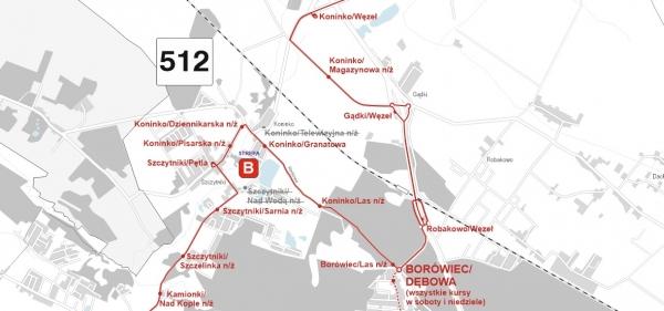 512 trasa przejazdu