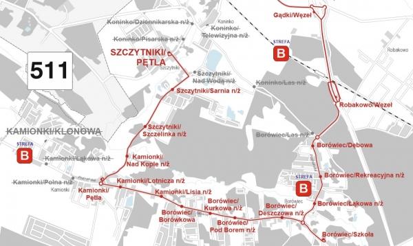 511 trasa przejazdu