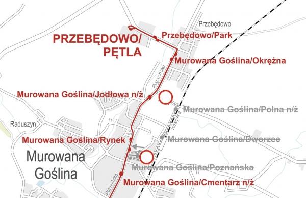 Schemat zmiana tras linii 342 i 348