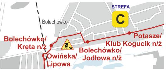 trasa linii nr 396 od 20 grudnia 2018