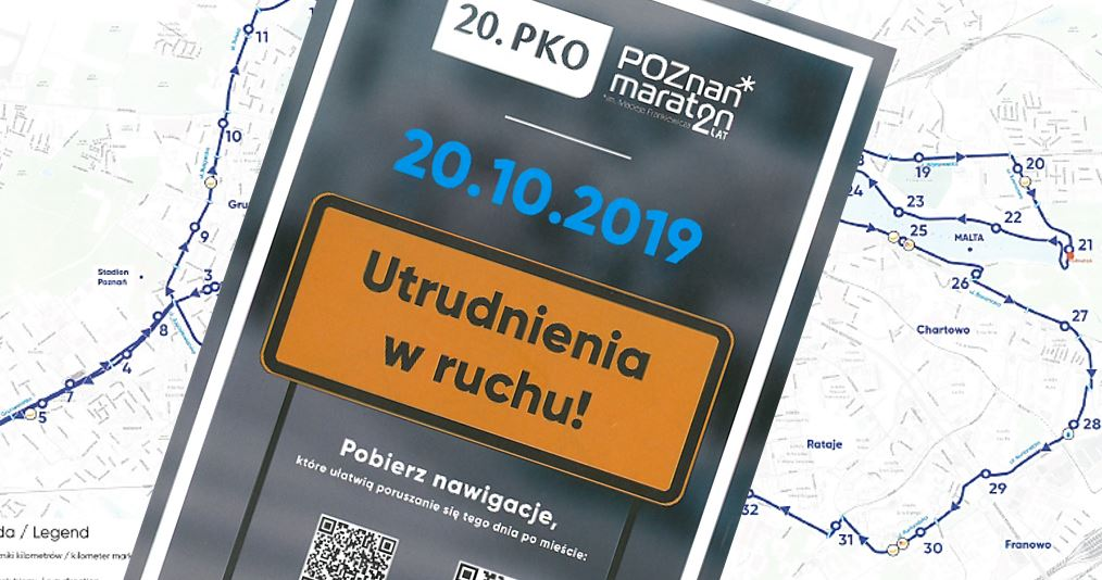 Transport zbiorowy w trakcie 20. PKO Poznań Maratonu